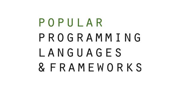 Popular Programming Languages & Frameworks